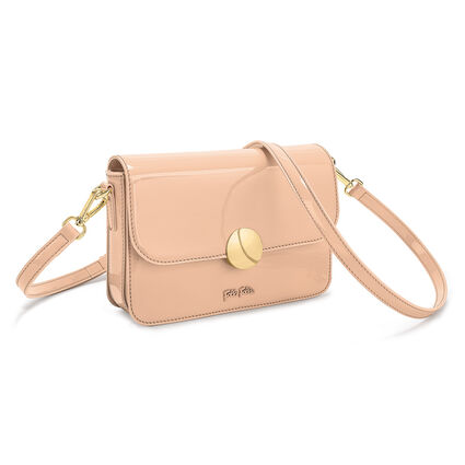 Sugar Sweet Shine Clutch Bag, Beige, hires
