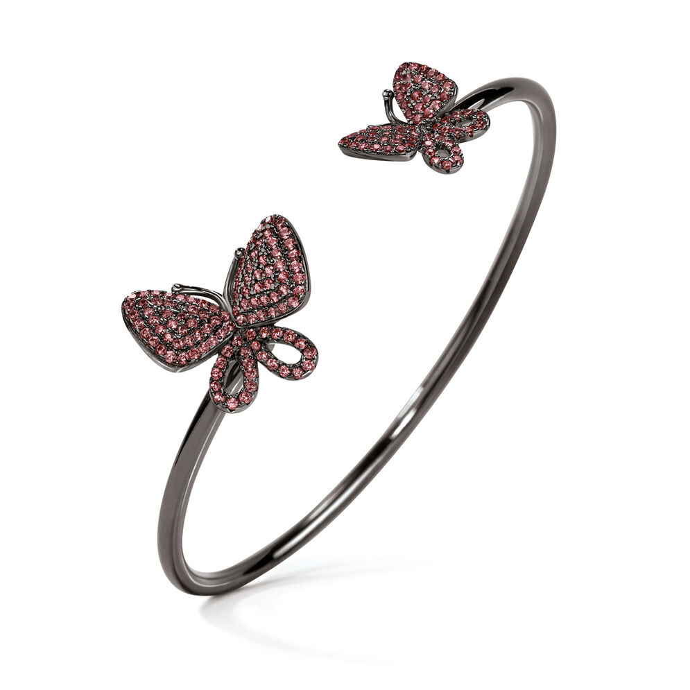 Wonderfly Black Rhodium Plated Cuff Bracelet, , hires