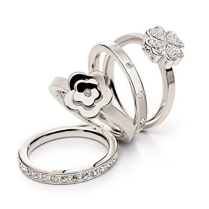 Bonding Silver Plated Set Ring, , hires