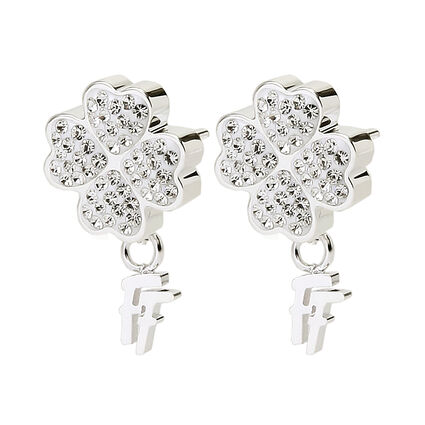 Heart4Heart Silver Plated Stud Earrings, , hires