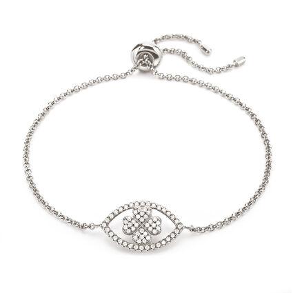 Heart4Heart Mati Rhodium Plated Ajustable Bracelet , , hires