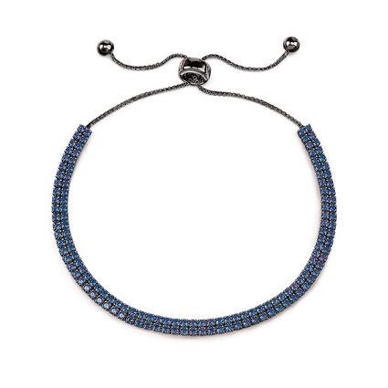 Fashionably Silver Temptation Black Rhodium Plated Adjustable Bracelet, , hires