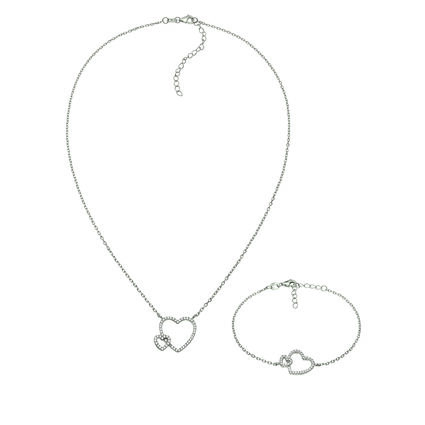 Fashionably Silver Stories Rhodium Plated Σετ, , hires