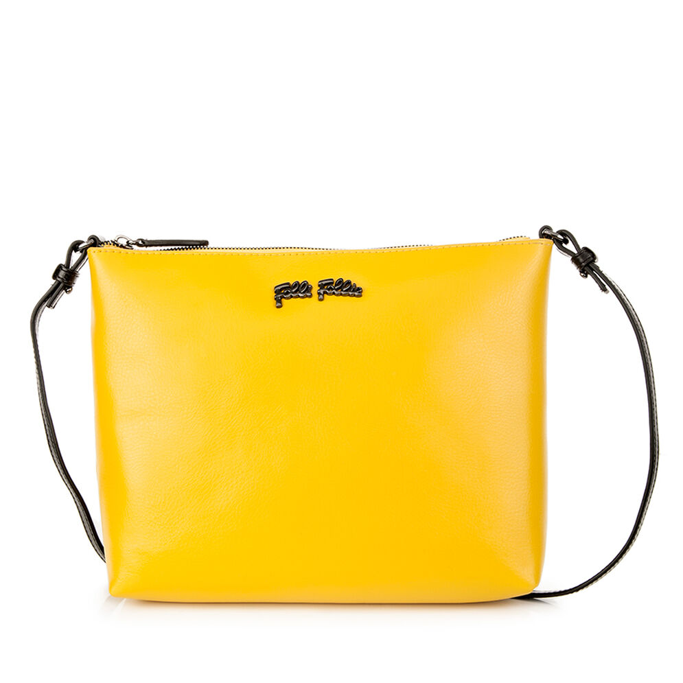 Nomad Crossbody Strap Leather Shoulder Bag, Yellow, hires