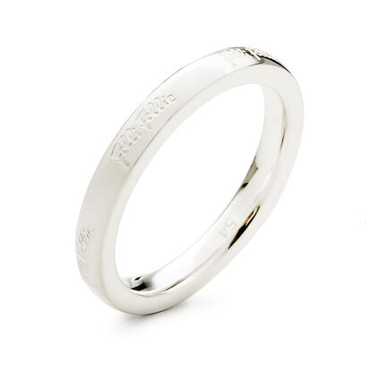 Match & Dazzle Silver Plated Slim Band Ring, , hires