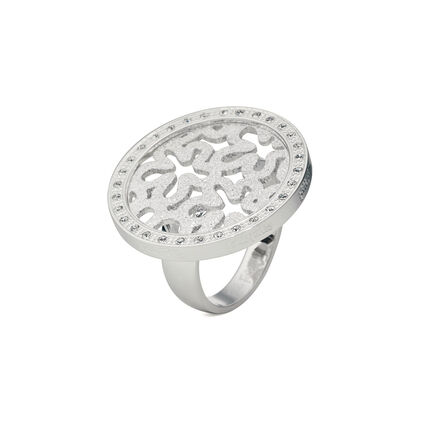 Fiorissimo Silver Plated Small Stone Ring, , hires