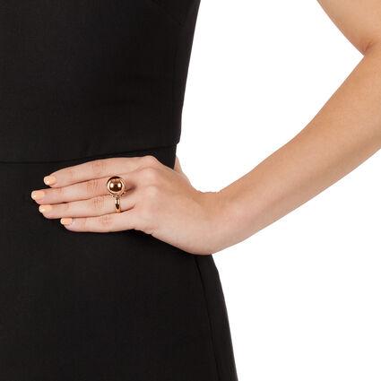 Lady Bubble Rose Gold Plated Μικρή Μπουλ Δαχτυλίδι, , hires