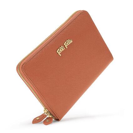 Folli Follie Zip Around Wallet, Brown, hires