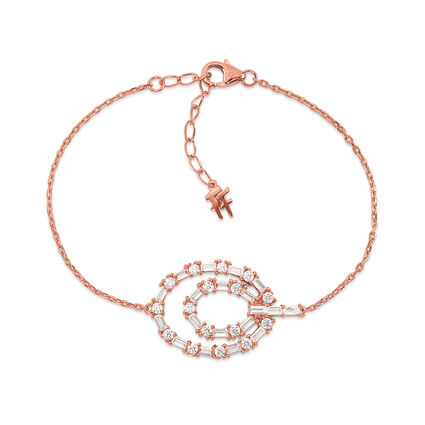 Fashionably Silver Essentials Rose Gold Plated Βραχιόλι, , hires