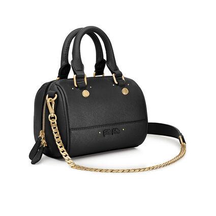 Uptown Beauty Mini Detachable Long Chain Strap Handbag, Black, hires