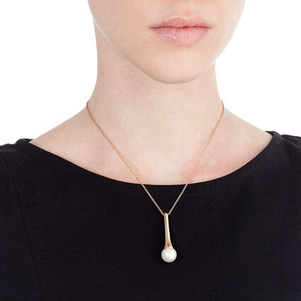 Pearl Muse Rose Gold Plated Short Necklace, , hires