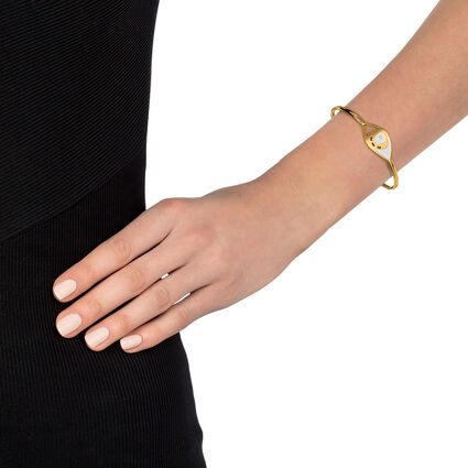 FF Talisman Yellow Gold Plated Cuff Bracelet , , hires