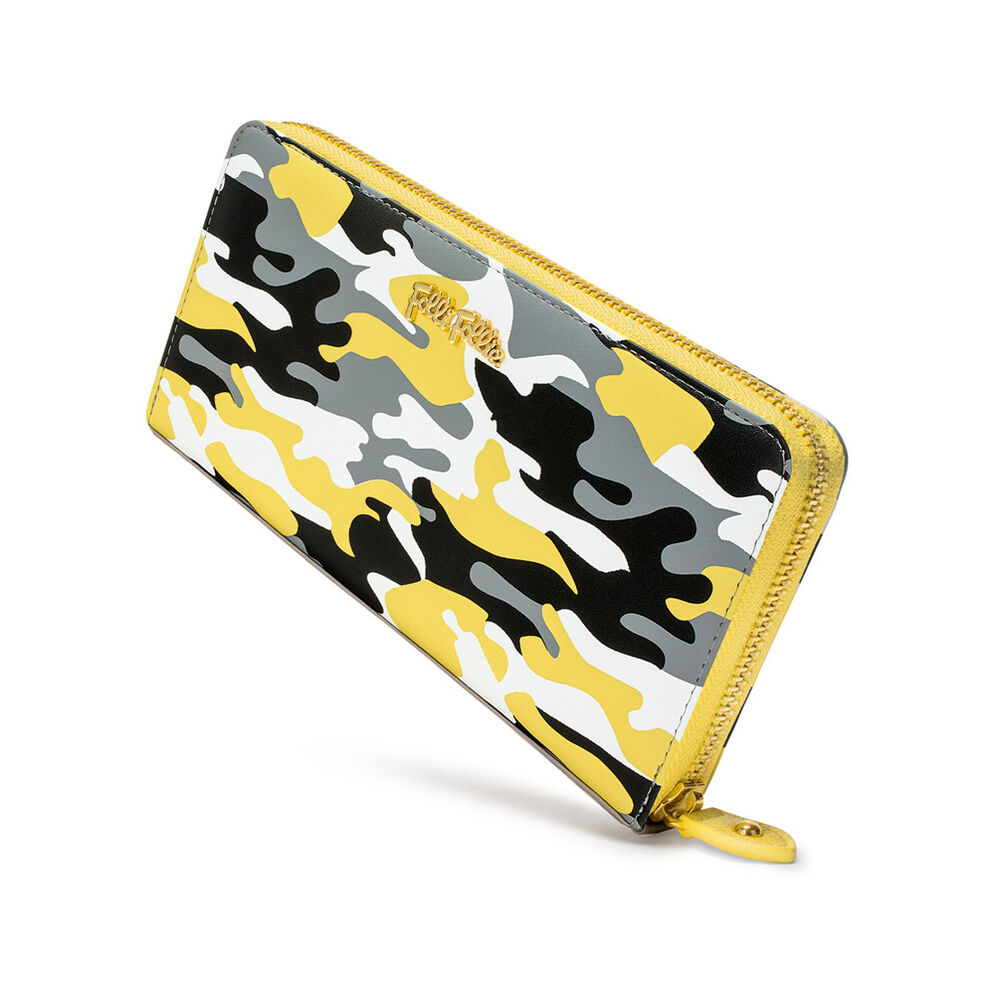 Rebel Riviera Big Continental Leather Wallet , Yellow, hires