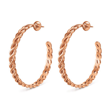 Apeiron Rose Gold Plated Hoop Earrings, , hires