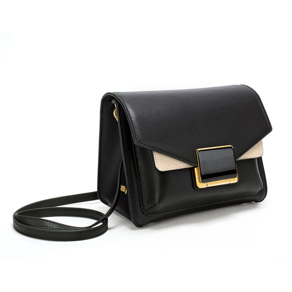 Lady Riviera Small Leather Crossbody Bag, Black, hires