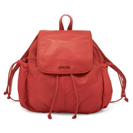 Buggy Leather Backpack Bag, Orange, hires
