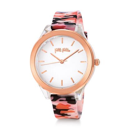 Rebel Riviera Medium Case Plastic Watch , Pink, hires