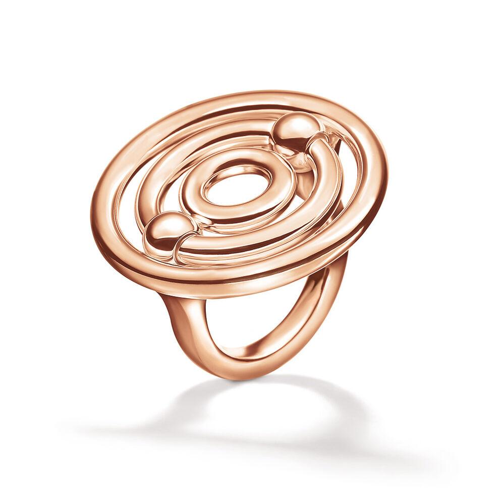 Bonds Rose Gold Plated Μεγάλο Δαχτυλίδι, , hires