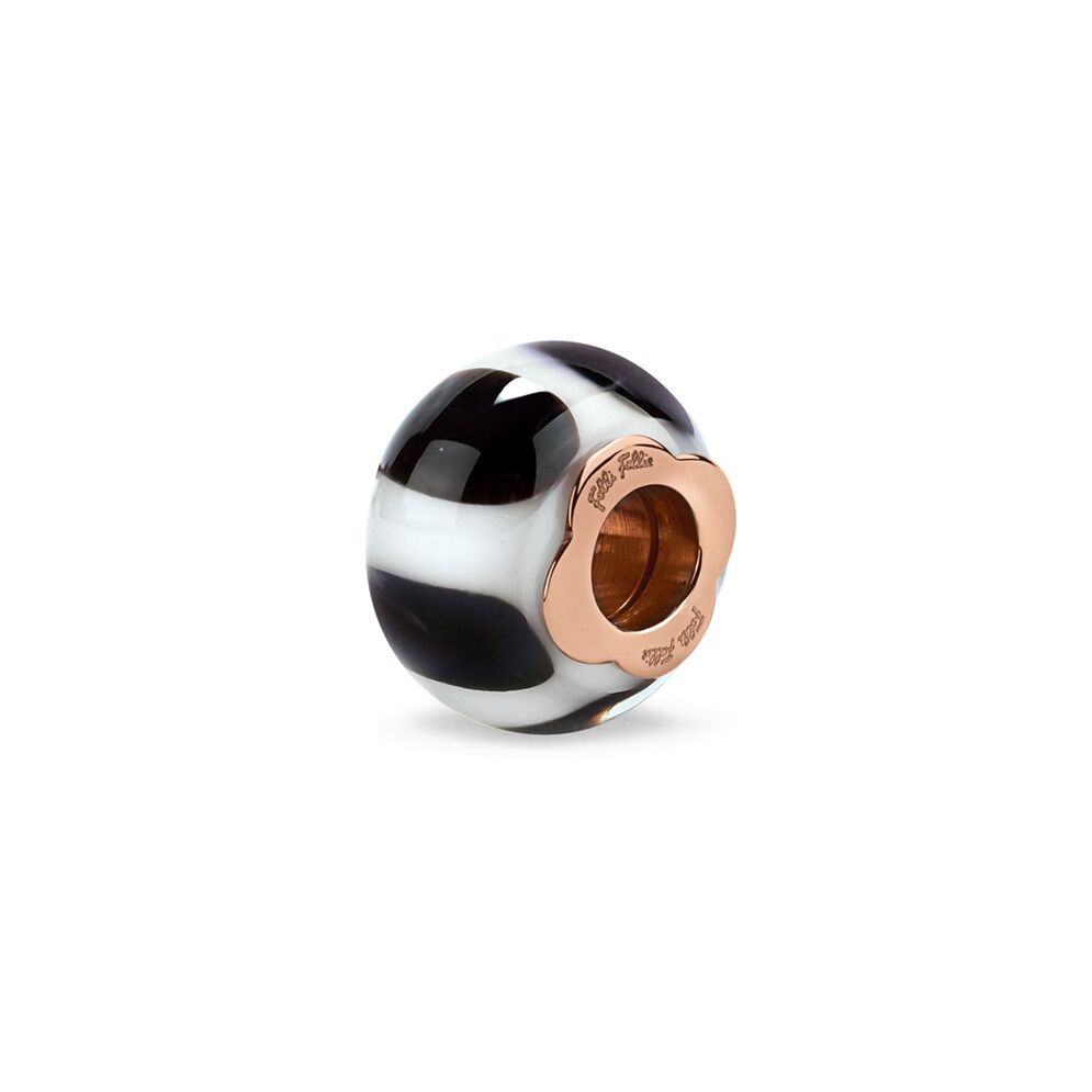 Club Riviera Rose Gold Plated Mourano Glass Bead Pendant , , hires
