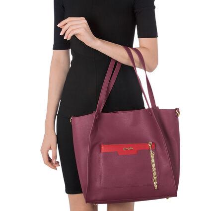 On The Go Large Shoulder Bag, Burgundy, hires