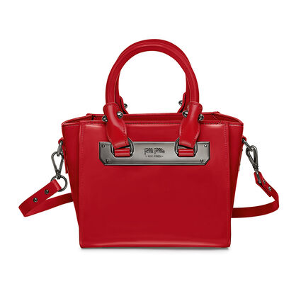 Style Code Mini Detachable Long Strap Leather Handbag, Red, hires