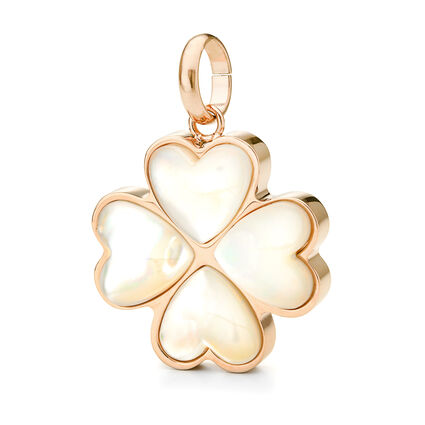 Follie Di Fiori Rose Gold Plated Mother Of Pearl Large Pendant, , hires