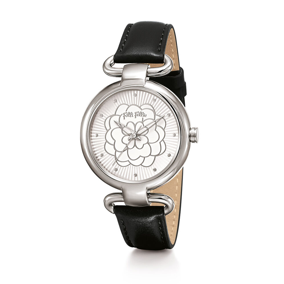 Santorini Flower Watch, Black, hires