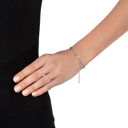 The Essentials Rhodium Plated Bracelet, , hires