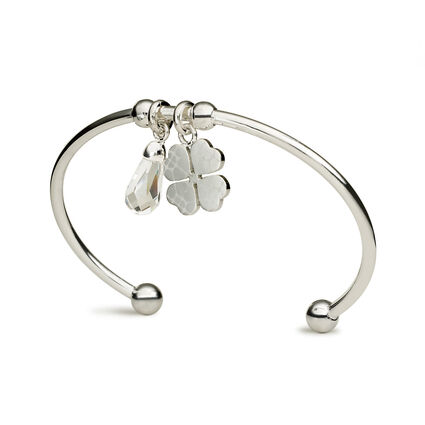 Heart4Heart Sweetheart Silver Plated Κρεμαστά Μοτίφ Σταθερό Βραχιόλι , , hires