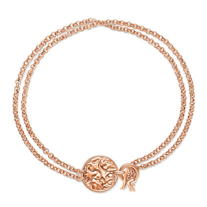 Coin Vintage Rose Gold Plated Short Necklace, , hires