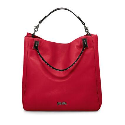 Brisk Leather Shoulder Bag, Red, hires