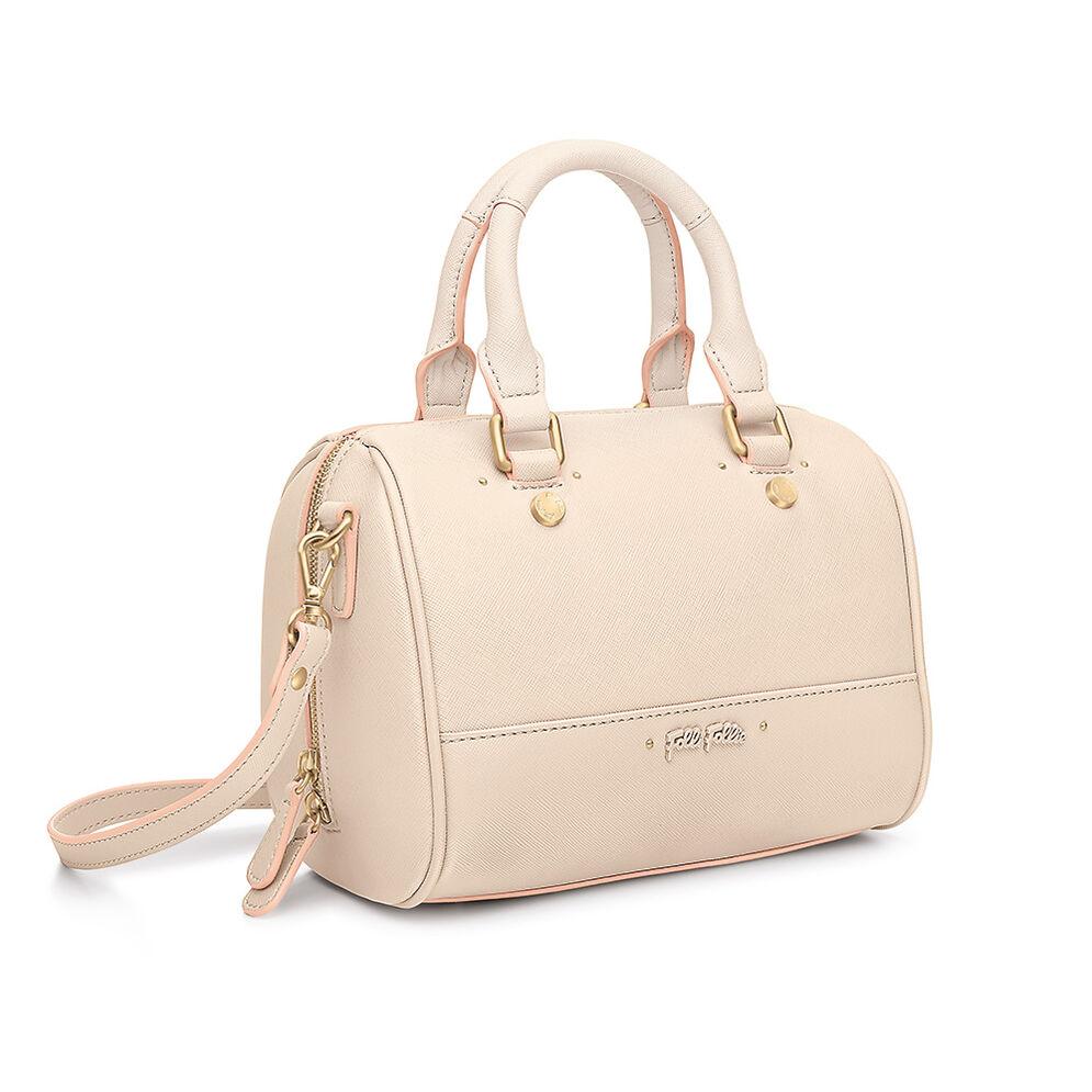 Uptown Beauty Detachable Long Strap Handbag, Beige, hires