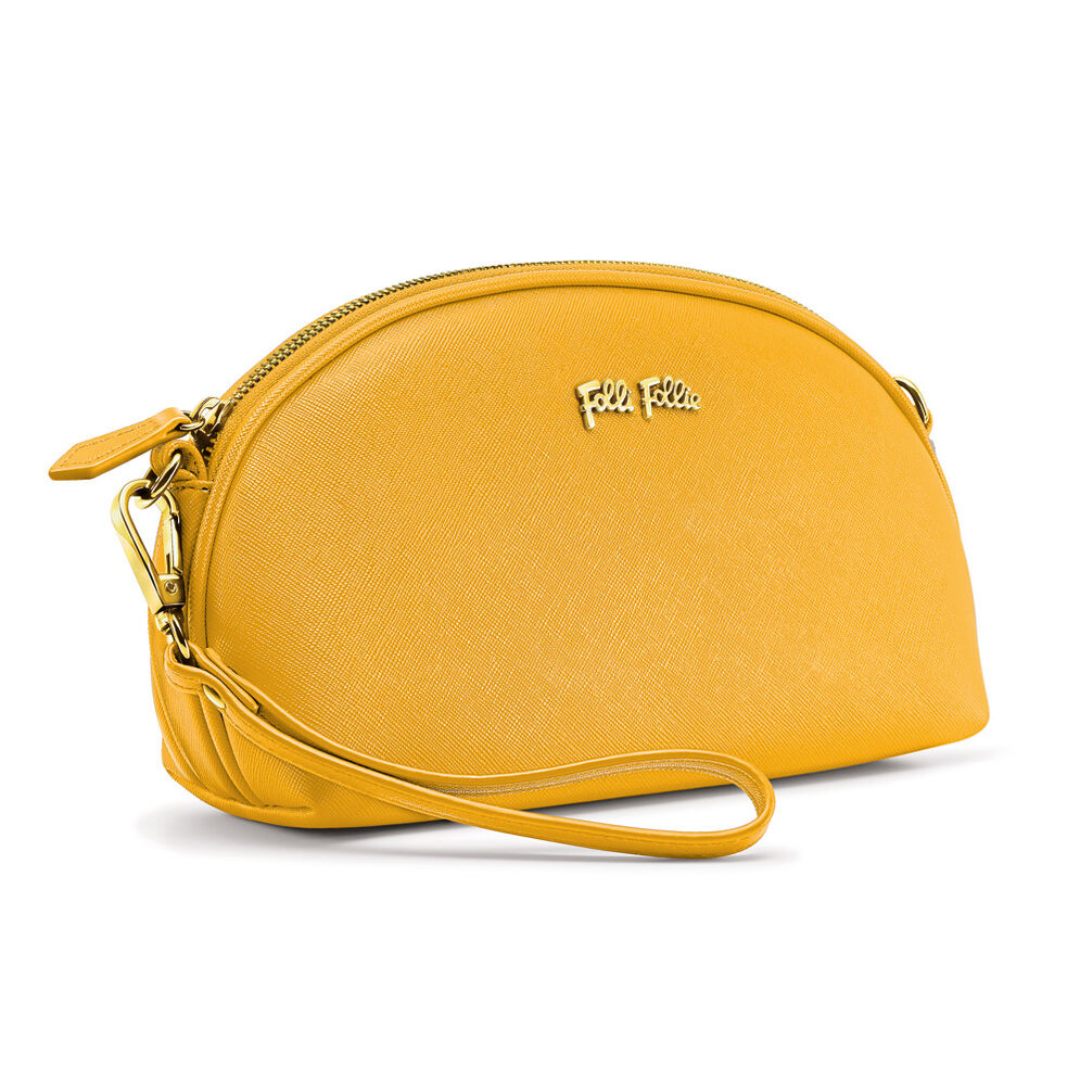 Folli Follie Detachable Crossbody Strap Necessaire Bag, Yellow, hires