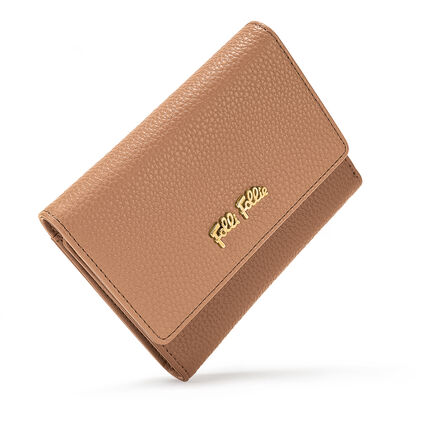 On The Go Small Foldable Wallet , Dark Camel, hires