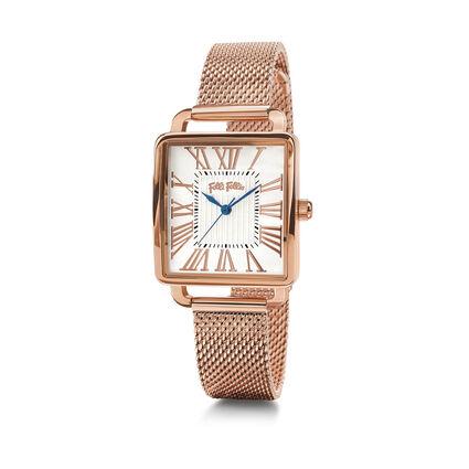 Retro Square Watch, Bracelet Rose Gold, hires