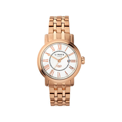 Richmond Womens Rose Gold Plated Bracelet Watch, , hires
