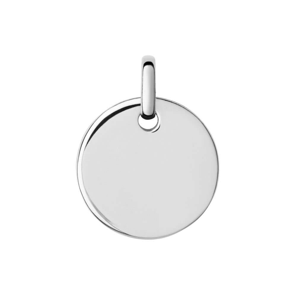 Narrative Sterling Silver Small Round Disc Pendant, , hires
