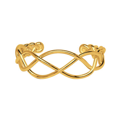 18K Yellow Gold Vermeil Woven Cuff, , hires