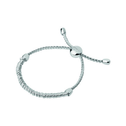 Sweetie XS Sterling Silver White & Pewter Cord Bracelet, , hires