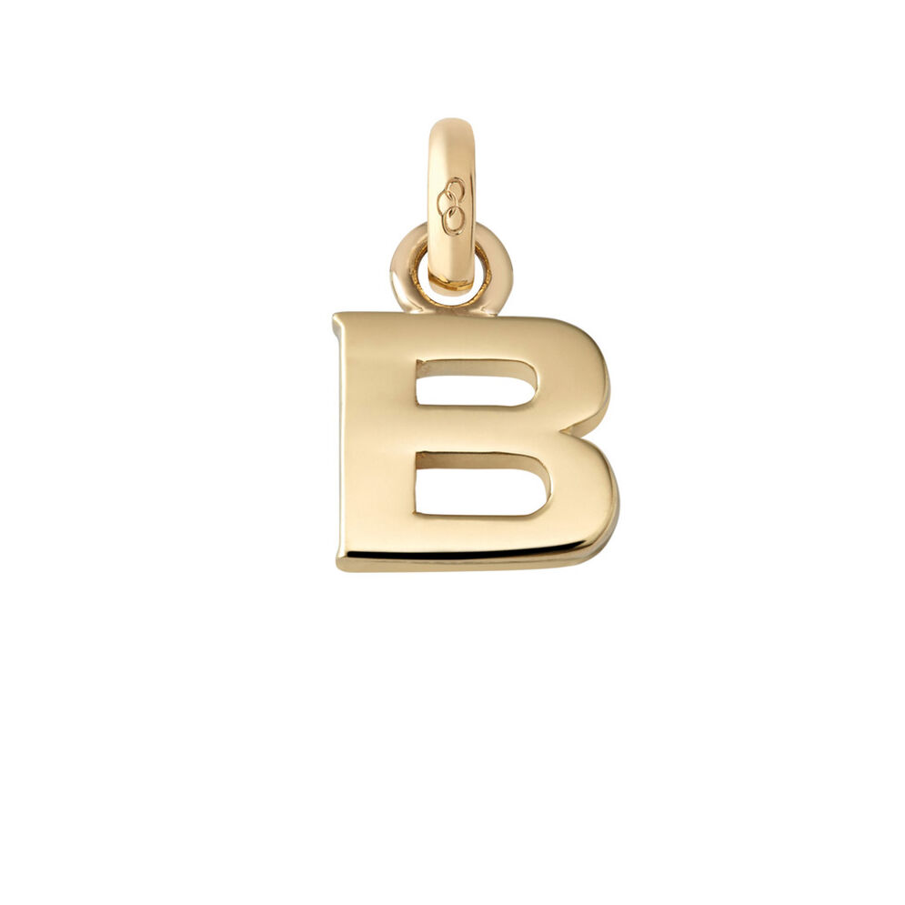 18kt Yellow Gold B Charm, , hires