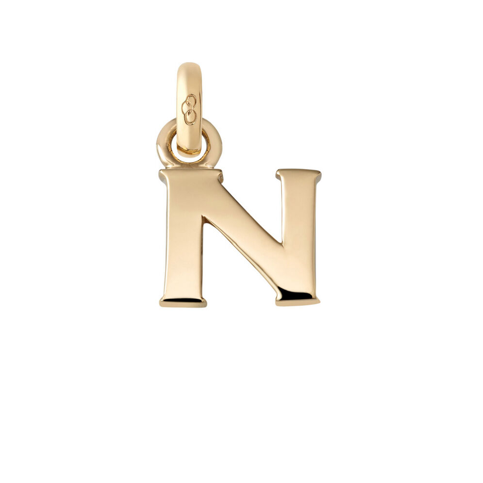 18kt Yellow Gold N Charm, , hires
