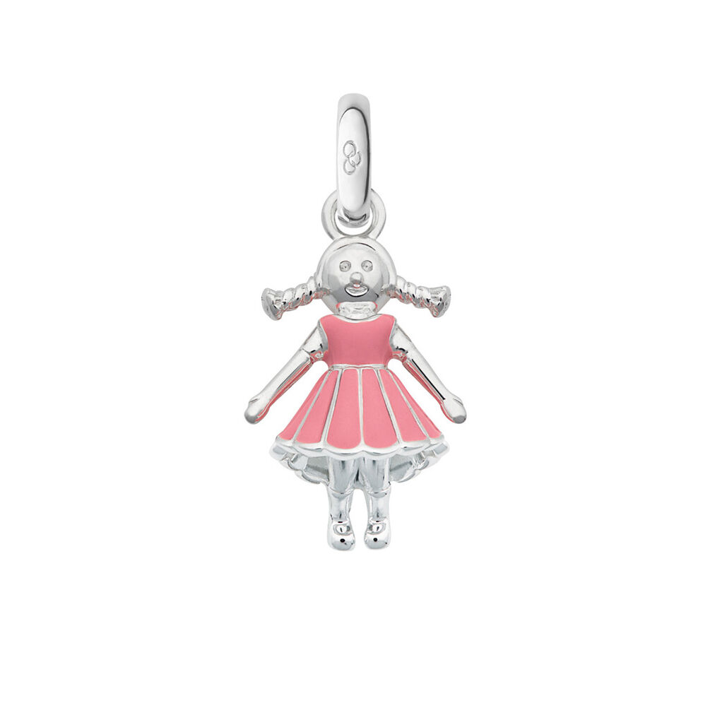 Sterling Silver Girl Charm, , hires