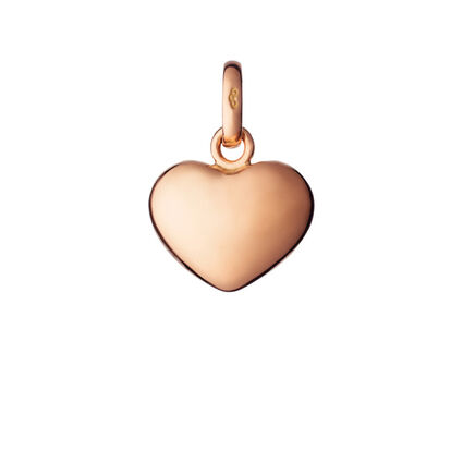 18kt Rose Gold Heart Charm, , hires