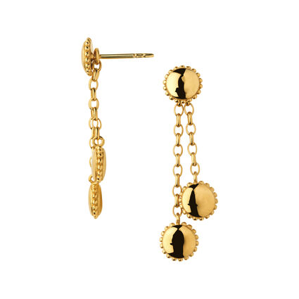 Amulet 18K Yellow Gold Vermeil Drop Earrings, , hires
