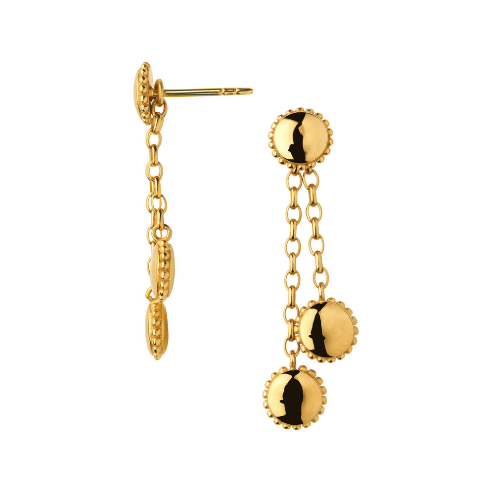 Amulet 18kt Yellow Gold Vermeil Drop Earrings, , hires