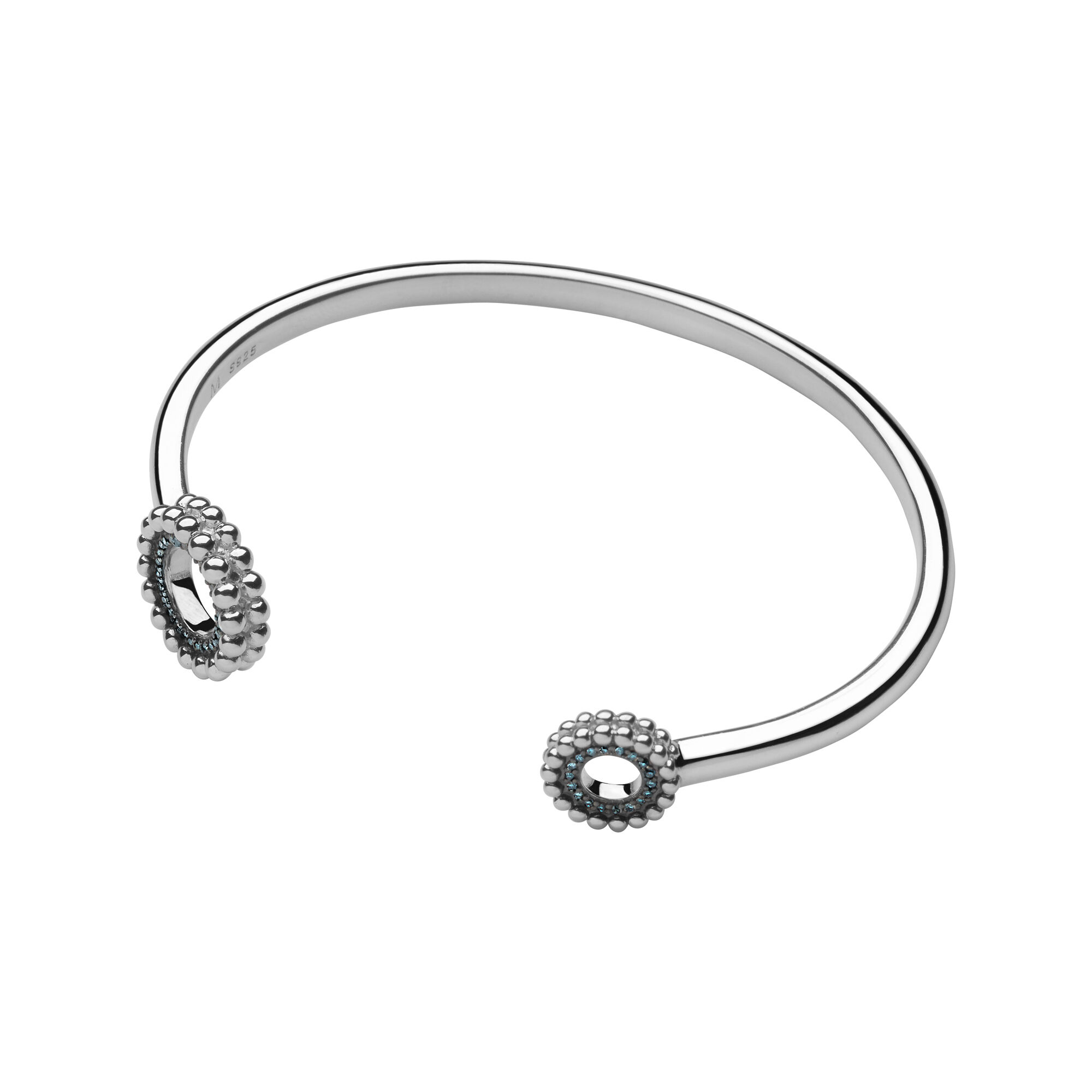 silver created diamond sapphires bangle in bracelet diamonds bangles with sterling