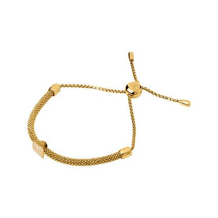 Starlight 18kt Yellow Gold Vermeil & Sapphire Square Bracelet, , hires