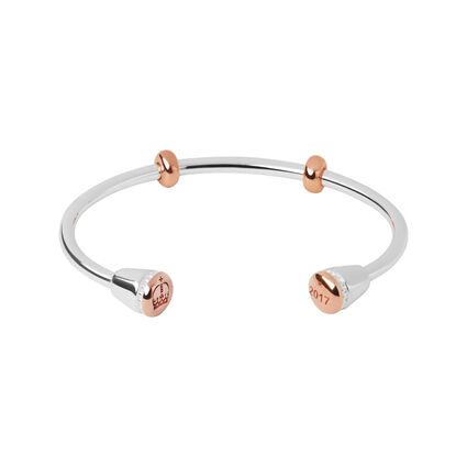 Ascot Sterling Silver & 18kt Rose Gold Vermeil Amulet Charm Cuff, , hires