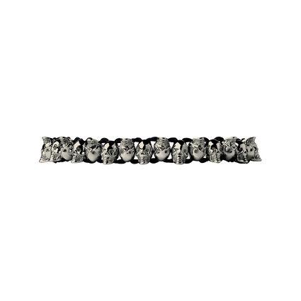 Friendship Bracelet Skull Black & Ruthenium, , hires