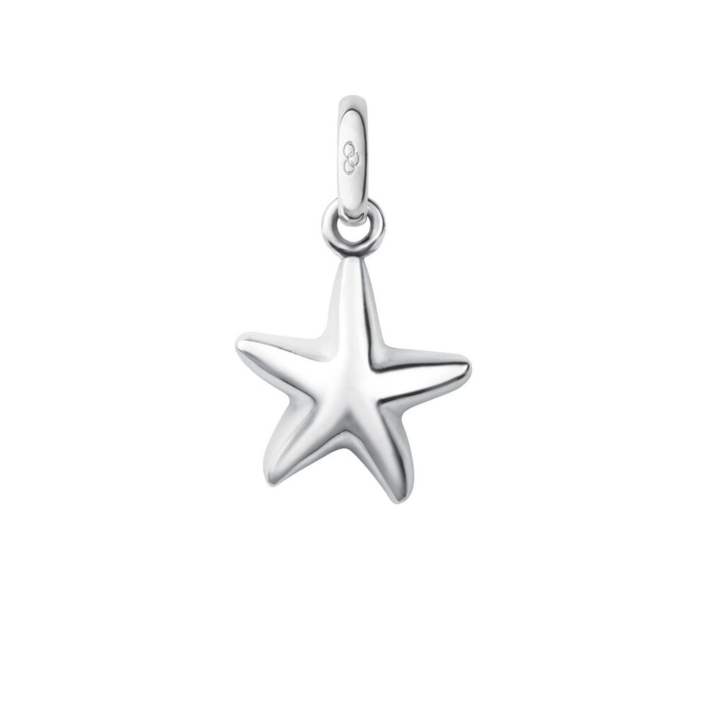 Sterling Silver Starfish Charm, , hires